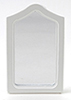 Dollhouse Miniature Framed Mirror, White