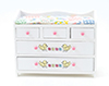 Dollhouse Miniature Changing Table, White, Abc Decal