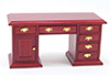 Dollhouse Miniature Desk, Mahogany