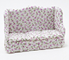 Dollhouse Miniature Sofa, Beige Fabric