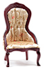 Victorian Lady's Chair, Mahogany, Floral Fabric