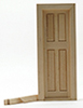 Dollhouse Miniature Narrow Inside Door with Trim