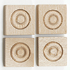 Dollhouse Miniature Small Corner Block, 4/Pk