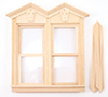 Dollhouse Miniature Fancy Victorian Working Double Window