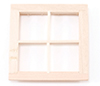 Dollhouse Miniature 4-Light Window, 2/Pk
