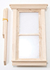 Dollhouse Miniature Traditional 2-Pane Non-Working Window