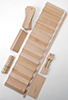 Dollhouse Miniature Staircase Kit, 14 X 3-3/16