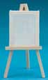 Dollhouse Miniature Easel with Canvas