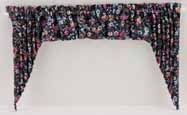 Dollhouse Miniature Swag: Dark Floral Large