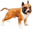 Dollhouse Miniature Standing Boxer, Brown