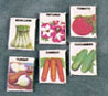 Dollhouse Miniature Seed Packets (Set Of 6)