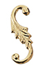 Dollhouse Miniature S-Hook, Brass, 4/Pk