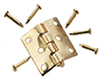 Dollhouse Miniature Butt Hinges W/Nails, 2Pr/Pk