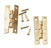 Dollhouse Miniature H Hinges/Brass, 2Pr W/24 Nail