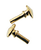 Dollhouse Miniature Brass Knobs, 16Pk