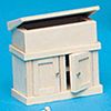 Dollhouse Miniature Shaker Dry Sink Kit