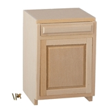 Dollhouse Miniature 2 In Base Cab., 1 Drawer/1 Door, Kit