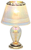Dollhouse Miniature Iridescent Teardrop Table Lamp