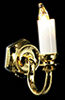 Dollhouse Miniature Single Candle Wall Sconce