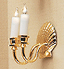 Dollhouse Miniature Shell Sconce
