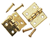 Dollhouse Miniature Door Hinge (6/Pk W/ 24 Nails)