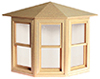 Dollhouse Miniature Double Hung Bay Window