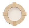 Dollhouse Miniature Circle Window With Trim