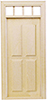 Dollhouse Miniature Traditional 4-Panel Door
