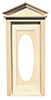 Dollhouse Miniature Victorian Oval Door W/Window