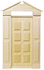 Dollhouse Miniature Americana Door, Pre-Hung
