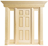 Dollhouse Miniature Jamestown 6-Panel Door W/Side Lights