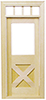 Dollhouse Miniature Classic Cross buck Door