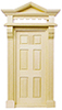 Dollhouse Miniature Victorian 6-Panel Door Hooded