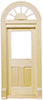 Dollhouse Miniature Palladian Single Door