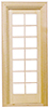 Dollhouse Miniature Single French Door