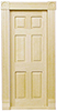 Dollhouse Miniature Traditional 6-Panel Interior Door