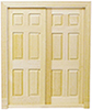 Dollhouse Miniature Double 6-Panel Interior Door