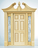Dollhouse Miniature Deerfield Exterior Door