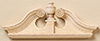 Dollhouse Miniature Single Deerfield Door Pediment 2Pk