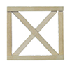 Dollhouse Miniature Cross buck Fence Gate, 2/Pk.