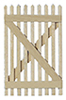 Dollhouse Miniature Picket Fence Gate, 2/Pk.
