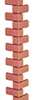 Dollhouse Miniature Brickmaster Corners Sheets 1 Inch