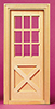 Dollhouse Miniature Playscale: Crossbuck Ext Door