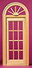 Dollhouse Miniature Playscale: Palladian Ext Door