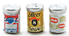 Dollhouse Miniature Beer Cans 3/Pk