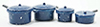 Dollhouse Miniature Blue Enamel Cookware, 7/Pk
