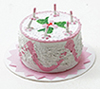 Dollhouse Miniature Birthday Cake, Assorted Colors