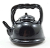 Dollhouse Miniature Black Tea Kettle