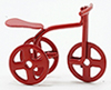 Dollhouse Miniature Red Tricycle, 1/2