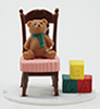 Dollhouse Miniature Bear In Chair